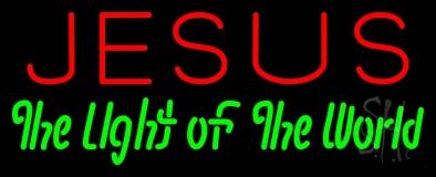 Jesus The Light Of World LED Neon Sign