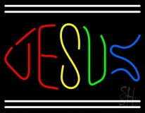 Jesus With Line LED Neon Sign