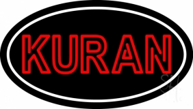 Kuran With Border LED Neon Sign