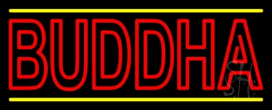 Lord Buddha With Lines LED Neon Sign