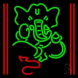 Lord Ganesha With Line LED Neon Sign