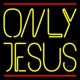 Only Jesus With Line LED Neon Sign