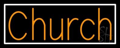 Orange Church LED Neon Sign