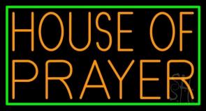 Orange House Of Prayer LED Neon Sign