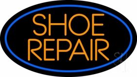 Orange Shoe Repair Neon Sign