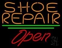 Orange Shoe Repair Open LED Neon Sign