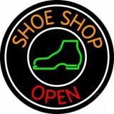 Orange Shoe Shop Open LED Neon Sign