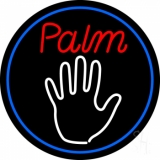 Palm Reader Logo With Blue Border LED Neon Sign