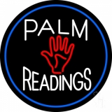 Palm Readings With Palm Blue Border LED Neon Sign