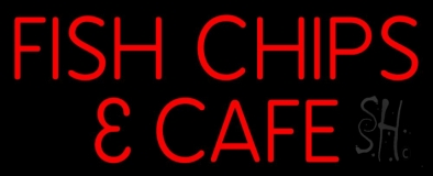 Fish and Chips Cafe LED Neon Sign