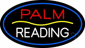 Palm Reading Yellow Line LED Neon Sign