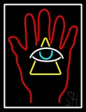 Palm With Eye Pyramid LED Neon Sign
