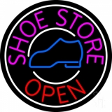Pink Shoe Store Open LED Neon Sign