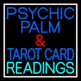 Psychic Palm And Tarot Card Readings White Border LED Neon Sign