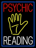 Psychic Reading Block Yellow Palm LED Neon Sign