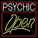 Psychic Red Border Yellow Open LED Neon Sign
