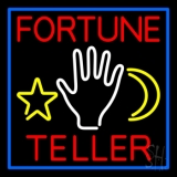 Purple Fortune Teller With Logo LED Neon Sign