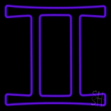 Purple Gemini LED Neon Sign
