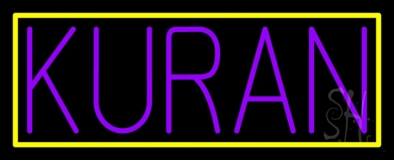 Purple Kuran Neon Sign