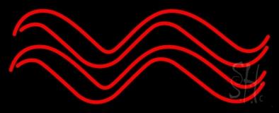 Red Aquarius Logo Neon Sign