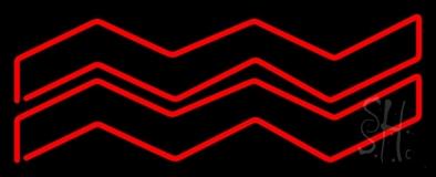 Red Aquarius Neon Sign