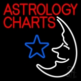 Red Astrology Charts LED Neon Sign