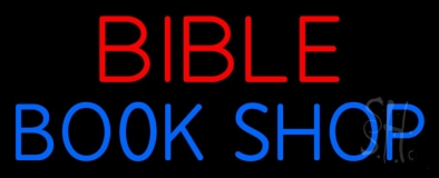 Red Bible Blue Book Shop Neon Sign