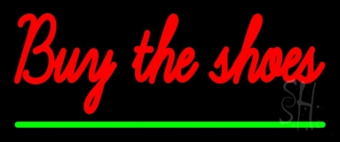 Red Buy The Shoes LED Neon Sign