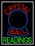 Red Crystal Ball Green Reader LED Neon Sign