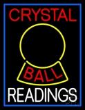 Red Crystal Ball White Reader LED Neon Sign