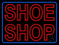 Red Double Stroke Shoe Shop LED Neon Sign