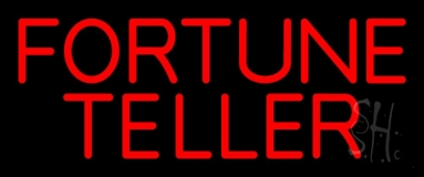 Red Fortune Teller Neon Sign