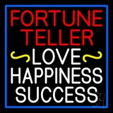 Red Fortune Teller White Love Happiness Success LED Neon Sign
