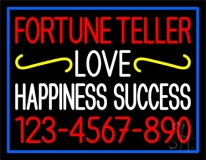 Fortune Teller Love Happiness Success with Phone Number LED Neon Sign
