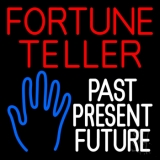 Red Fortune Teller White Past Present Future LED Neon Sign