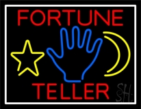 Red Fortune Teller With Logo LED Neon Sign
