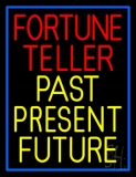 Red Fortune Teller Yellow Past Present Future LED Neon Sign