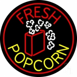 Red Fresh Yellow Popcorn LED Neon Sign