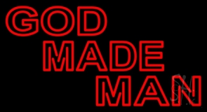 Red God Made Man LED Neon Sign