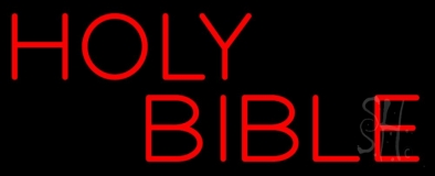 Red Holy Bible Neon Sign