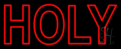Red Holy LED Neon Sign