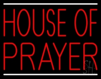 Red House Of Prayer LED Neon Sign
