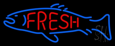 Fresh Fish Logo LED Neon Sign