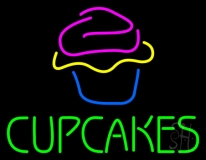 Green Cupcakes With Cupcake LED Neon Sign