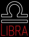 Red Libra Zodiac LED Neon Sign