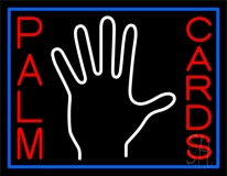 Red Palm Cards With White Logo LED Neon Sign