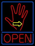 Red Palm Open LED Neon Sign