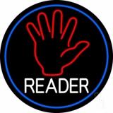 Red Palm White Reader LED Neon Sign