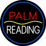 Red Palm Yellow Line White Reading LED Neon Sign