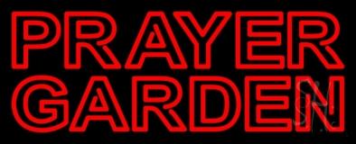 Red Prayer Garden LED Neon Sign